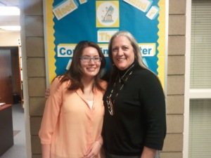 Savannah Andrews (left) and Janet Millar (right) were in the counseling center on Feb. 11. (Courtesy of Lynda Delgado)