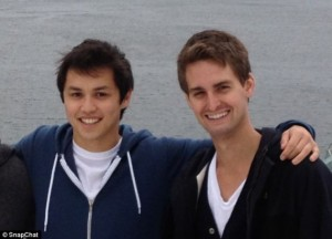 Bobby Murphy (left) and Evan Spiegel (right) are the founders of Snapchat, a downloadable app used for sending pictures. (Image from pandithnews,com)