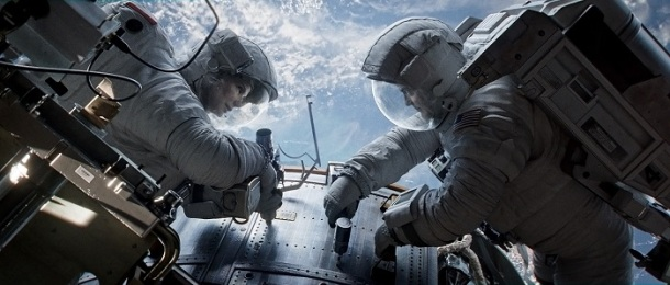 Image from collider.com Sandra Bullock and George Clooney star as astronauts who partake in a routine-turned-perilous mission.
