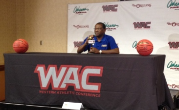 Men's head coach Rod Barnes addresses the media at the Orleans Arena on Tuesday, Oct. 15.