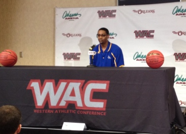 Women's head coach fields questions at the WAC Basketball Preview.