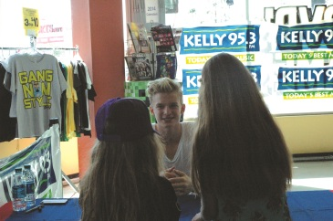 Photos by Elyse Riva/The Runners Cody Simpson performed and signed autographs for the first 100 people who bought his Surfer Paradise CD at FYE Sunday October 13, 2013.