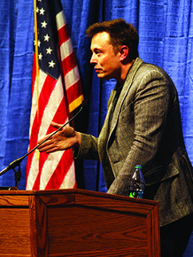 Tesla founder comes to campus
