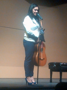 Classical Guitarist Iren Arutyunyan during her concert on Jan. 25 2014