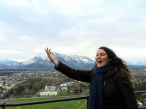 Source: www.facebook.com Elizabeth Provencio enjoys the Viennese scenery during her semester abroad in Vienna, Austria.