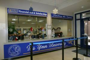 Image from https://www.facebook.com/csubakersfield/photos. The financial aid office at CSUB provides information and help to students regarding any inquiries about finances and scholarships.