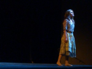 Ashton Smith sings during her scene in Susannah by Carlisle Floyd at the Doré Theatre during An Evening of Opera Scenes.