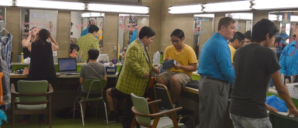 Eric Garza/The Runner Cast members of Hairspray get prepare for the show.