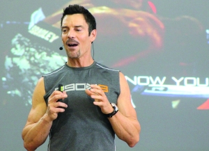 """Layne Ogle/The Runner Tony Horton has been nicknamed """"the walking fountain of youth,"""" based on his 11 laws of fitness that he spoke about on Saturday, May 17 at CSUB."""