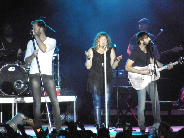"""Lady Antebellum sing their hits, like """"American Honey"""" and """"Need You Now"""" on July 22 at the Mid-State Fair."""